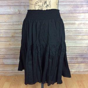 Old Navy Womens Medium Solid Black Cotton Skirt